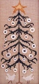 The Drawn Thread Button Tree - DR123 -  Leaflet