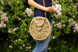 Sunburst circle bag