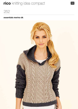 Cabled Tunic And Sweater in Rico Essentials Merino DK - 252
