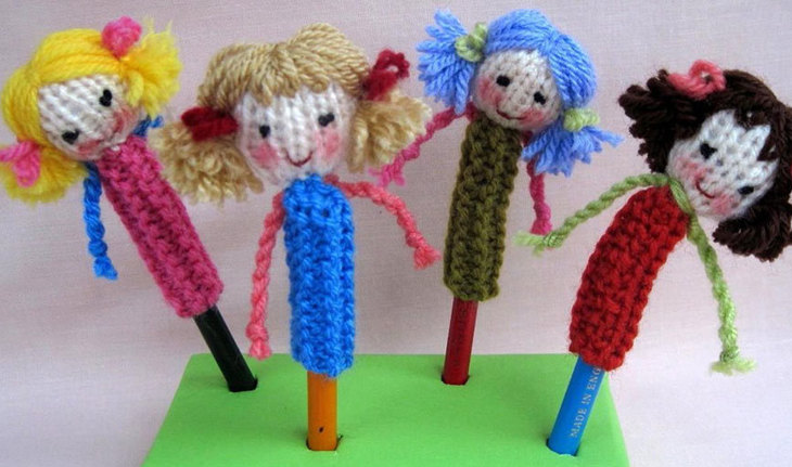 Dolly Pencil Topper by Dollytime