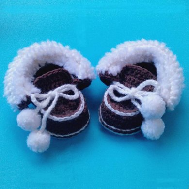 Winter Baby Moccasins