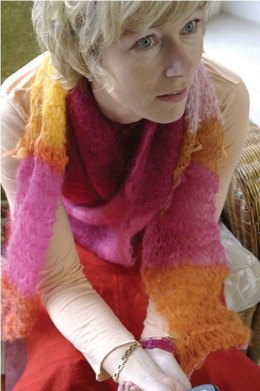Magic Scarf in Be Sweet Specialty Mohair Magic Ball