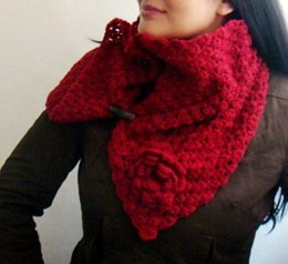 Burgundy Buttoned Up Cowl