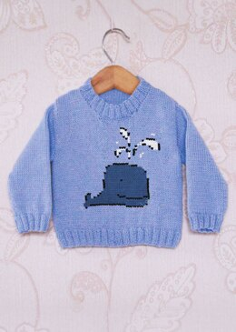 Intarsia - Blue Whale Chart - Childrens Sweater