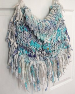 Boho Fringe Bag in Knit Collage Pixie Dust