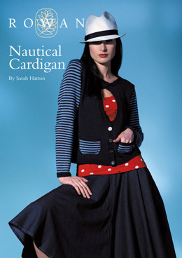 Nautical Cardigan in Rowan Cotton Glace
