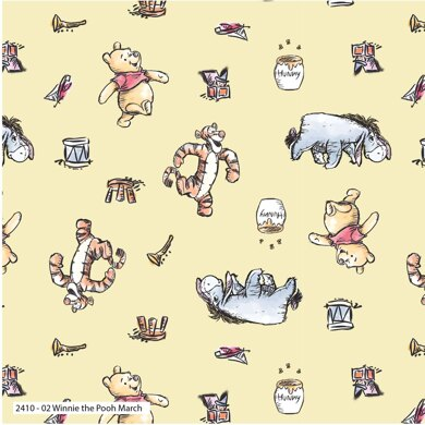 Visage Textiles Winnie The Pooh Cut to Length - March