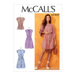 McCall's Misses' Tops and Dresses M7889 - Sewing Pattern