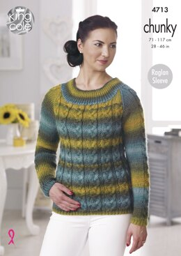 Sweater & Cardigan in King Cole Riot Chunky - 4713