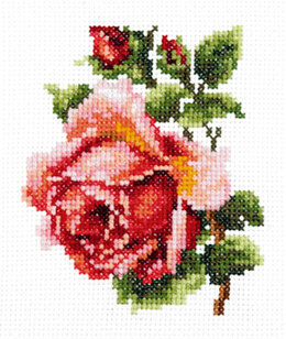 Magic Needle Small Rose Cross Stitch Kit