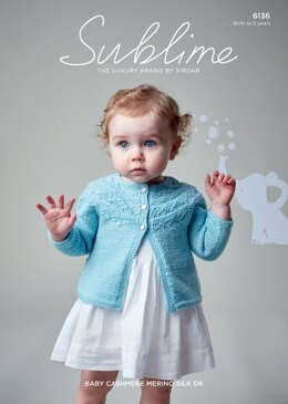 Cardigan in Sublime Baby Cashmere Merino Silk DK - 6136 - Downloadable PDF