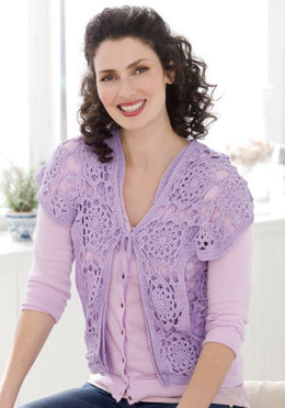 Lovely Lace Vest in Aunt Lydia's Iced Bamboo Size 3 - LC2536 - Downloadable PDF