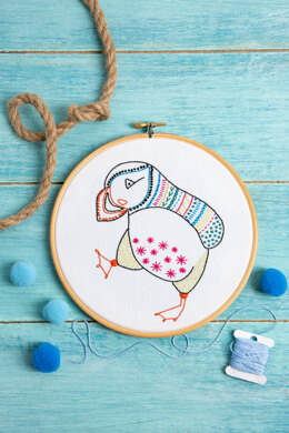 Hawthorn Handmade Puffin Contemporary Embroidery Kit