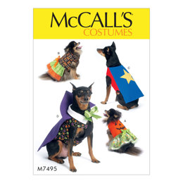 McCall's Pumpkin, Hero, Vampire and Dress Pet Costumes M7495 - Sewing Pattern