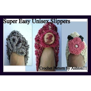 Easy Unisex Slippers | Crochet Pattern by Ashton11