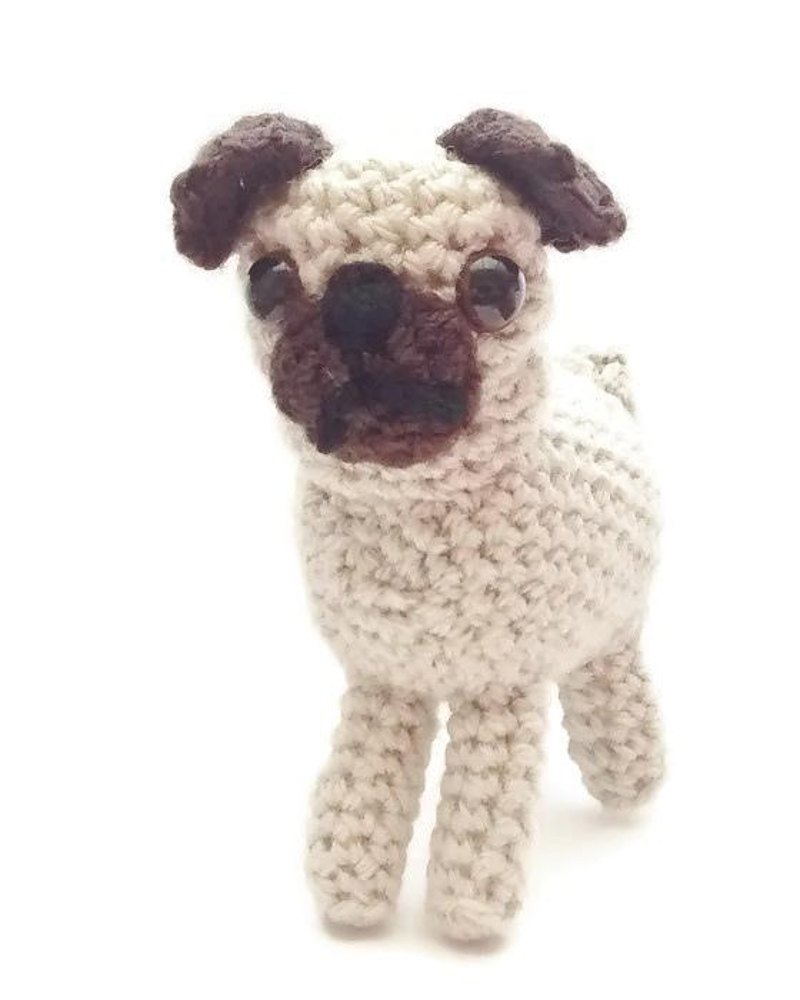 Pug Cushion Knitting Pattern