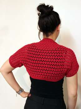 Lacy Summer Shrug in Lion Brand Cotton-Ease - L20122