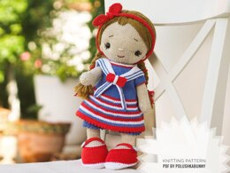 Knitting Pattern Doll Clothes, Outfit Betty for 40 cm doll
