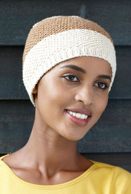 Seed Stitch Hat in Lion Brand Cotton-Ease - 90446B