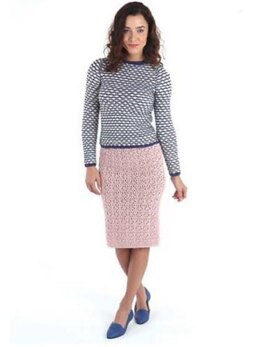 Eyelet and Bead Lace Skirt