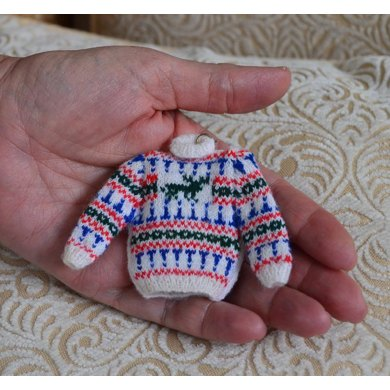 Miniature Stag Fairisle Jumper Knitting Pattern By T Bee Cosy