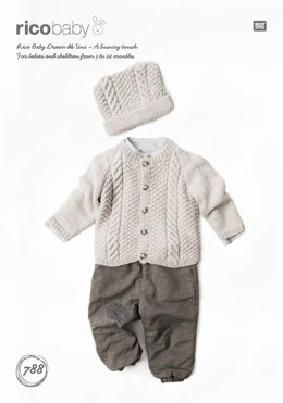 Cardigan and Hat in Rico Baby Dream DK Uni - 788 - Downloadable PDF