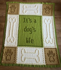 Dog Blanket Knit with Bobbles