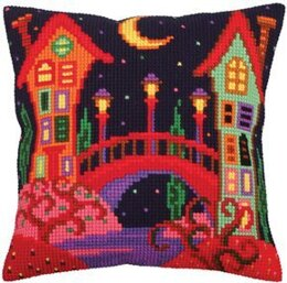 Collection D'Art Bridge to Fairy Tale Cross Stitch Cushion Kit - 40cm x 40cm