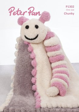Bobble Edge Blanket & Caterpillar in Peter Pan Precious Chunky - P1302 - Downloadable PDF