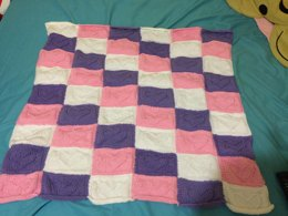 Cute Heart Engraved Patch Baby Blanket Pattern