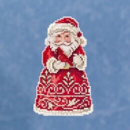 Mill Hill JimShore Pint Size Christmas - Santa With Cardinal - 3inx5in