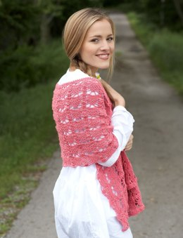 Pineapple Lace Shawl in Bernat Handicrafter Crochet Thread