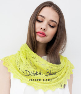 Lace Edged Cowl in Debbie Bliss Rialto Lace - DB005 - Leaflet