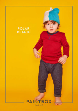 """Polar Beanie"" - Beanie Knitting Pattern For Babies in Paintbox Yarns Simply DK"