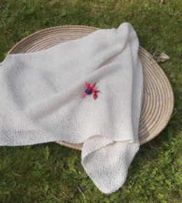 Wrapping Blanket in UK Alpaca Baby Alpaca Silk 4 Ply - Downloadable PDF