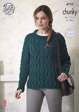 Sweater and Cardigan in King Cole Chunky - 4722