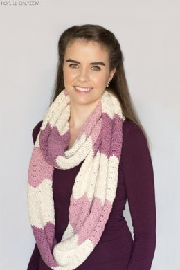 Antique Rose Ripple Infinity Scarf