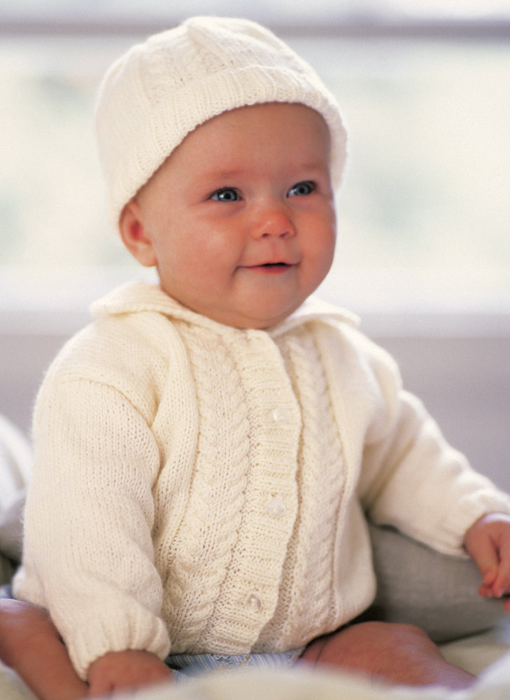 Alex Cardigan Hat And Bootees In Patons Fairytale Soft 4