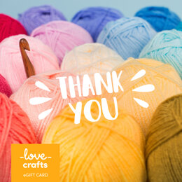 LoveCrafts eGift Card - Thank You