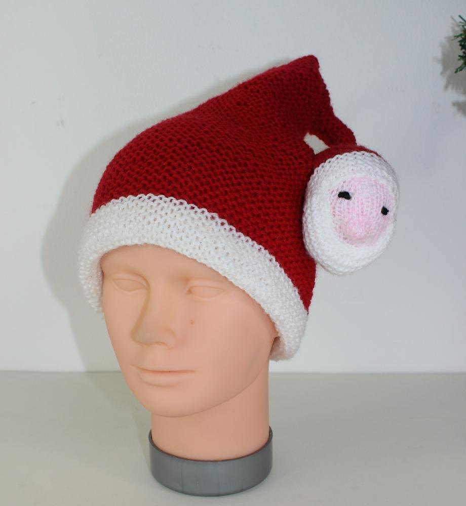 Childrens santa head christmas hat knitting pattern by madmonkeyknits childrens santa head christmas hat zoom bankloansurffo Images