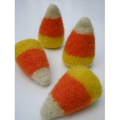 Felted Woolly Candy Corn