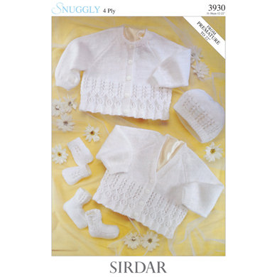 Sirdar Knitting Pattern Abbreviations : Cardigan, Hat, Mittens and Bootees in Sirdar Snuggly 4 Ply 50g - 3930 - Downl...