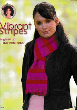 Stripes and Bobbles Scarf