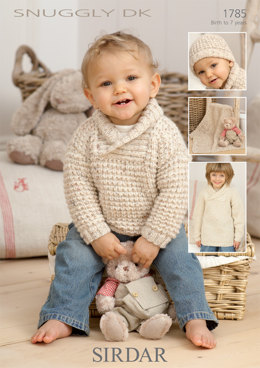 Sweater, Hat and Blanket in Sirdar Snuggly DK - 1785 - Downloadable PDF