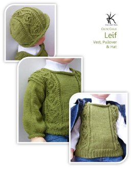 Leif vest, pullover and hat