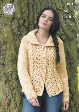 Cardigan and Sweater in King Cole Big Value Super Chunky - 4361 - Downloadable PDF
