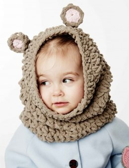 Mousie Snood in Bernat Baby Blanket - Downloadable PDF