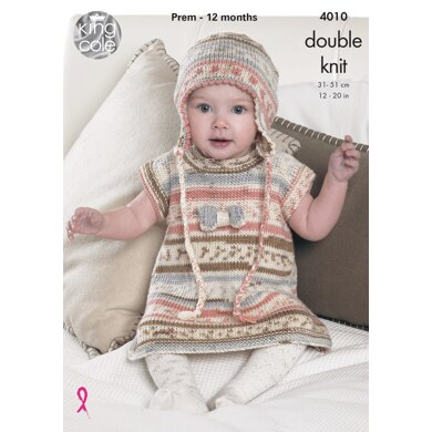 Baby Set in King Cole DK - 4010 - Downloadable PDF