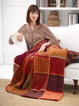 Fall Colors Afghan in Lion Brand Vanna's Choice