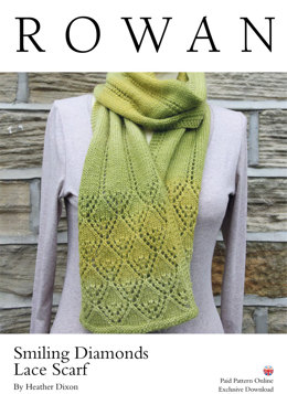Smiling Diamonds Lace Scarf in Rowan Alpaca Colour - D75